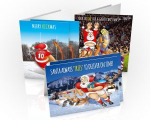 rugby chrisitmas cards mixed pack 6