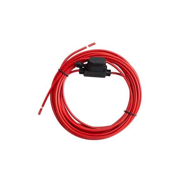 4mm kabel med säkringshållare säkring