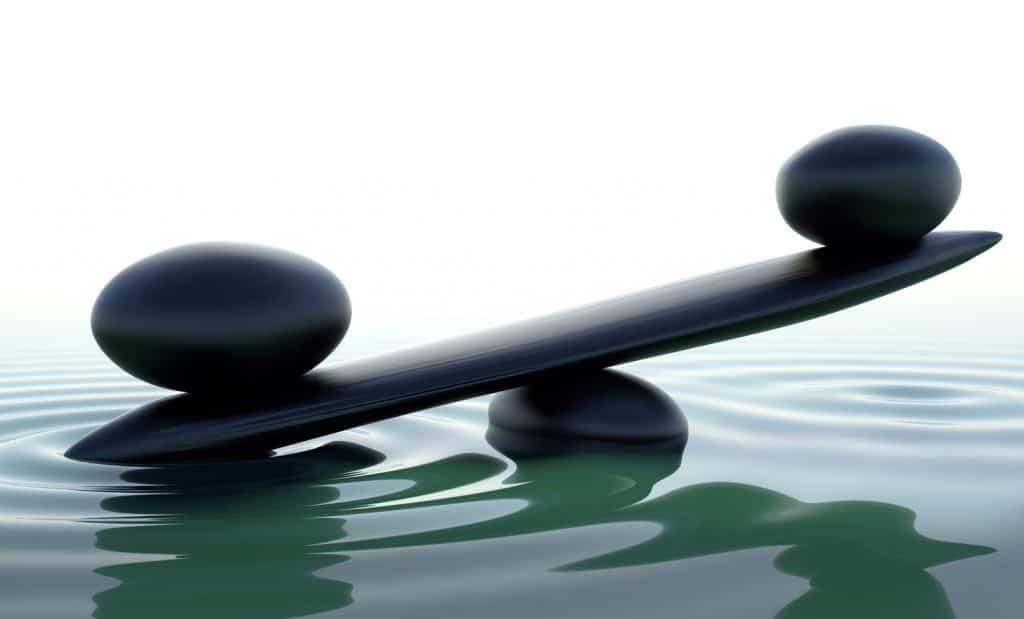 Sten der balancerer