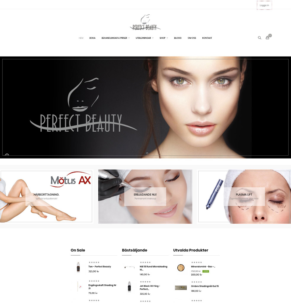 Perfectbeauty - E-Commerce - Studio1one