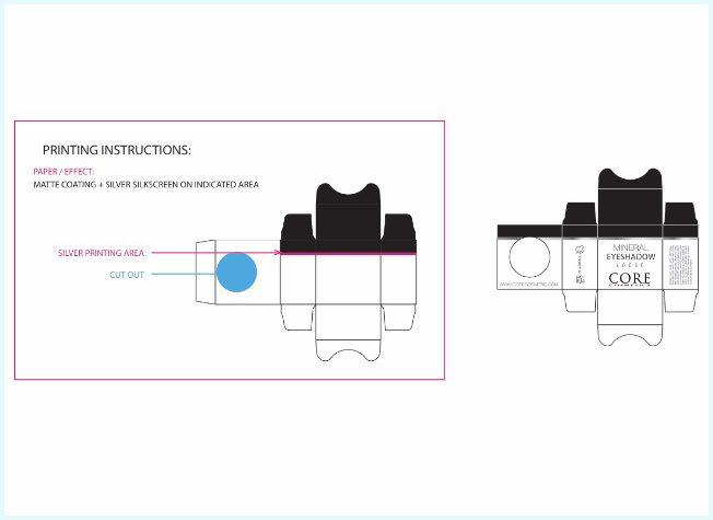 Förpackningar layout design