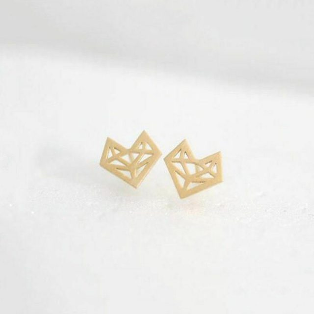 Angels golden fox earrings