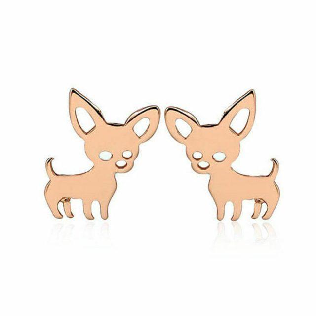 Golden dog chihuahua earrings