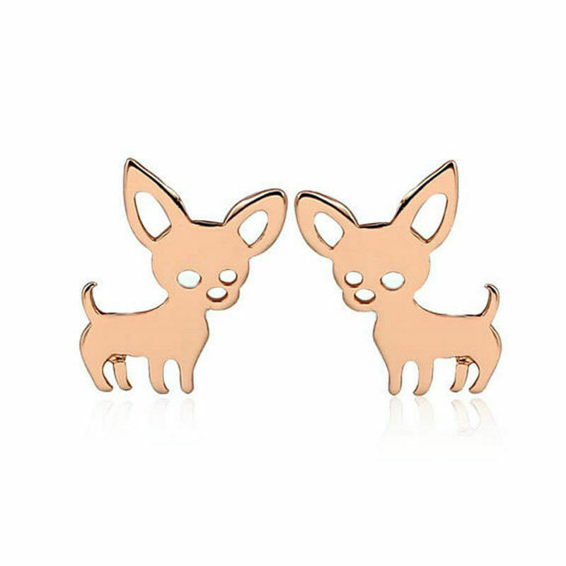 Golden dog chihuahua earrings