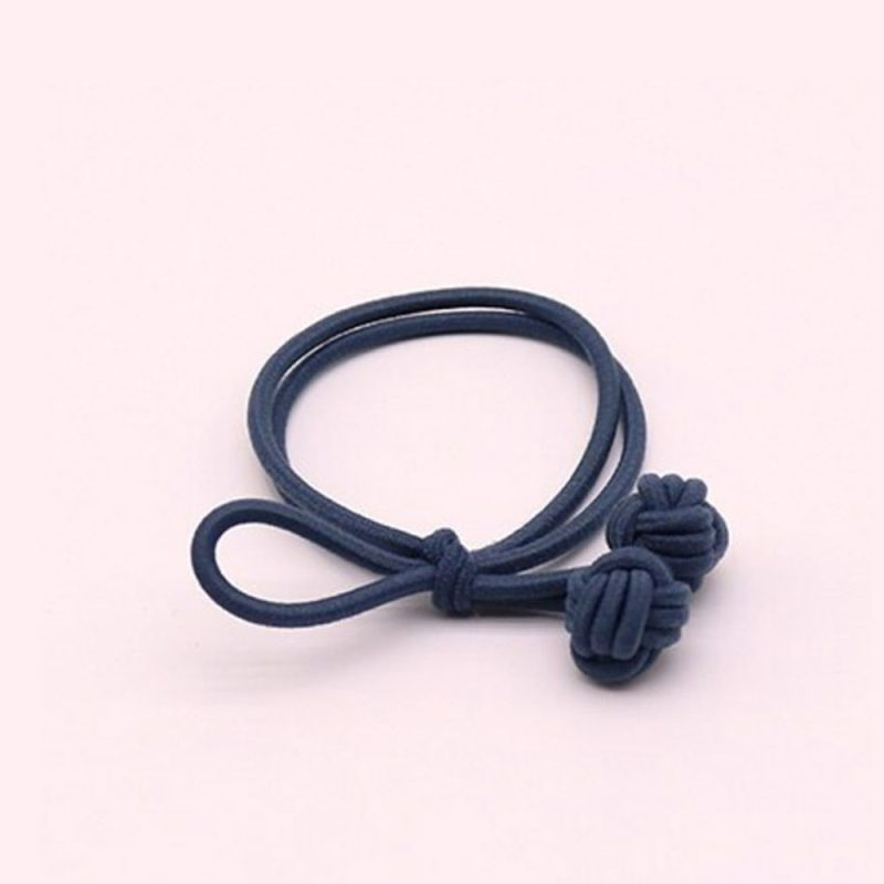 Trendy hair tie bands scrunchies dark blue
