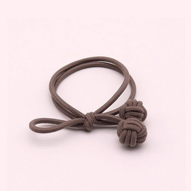 Trendy hair tie bands scrunchies dark coffee