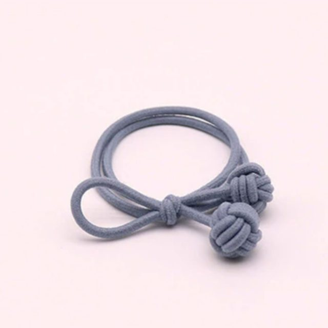 Trendy hair tie bands scrunchies light blue