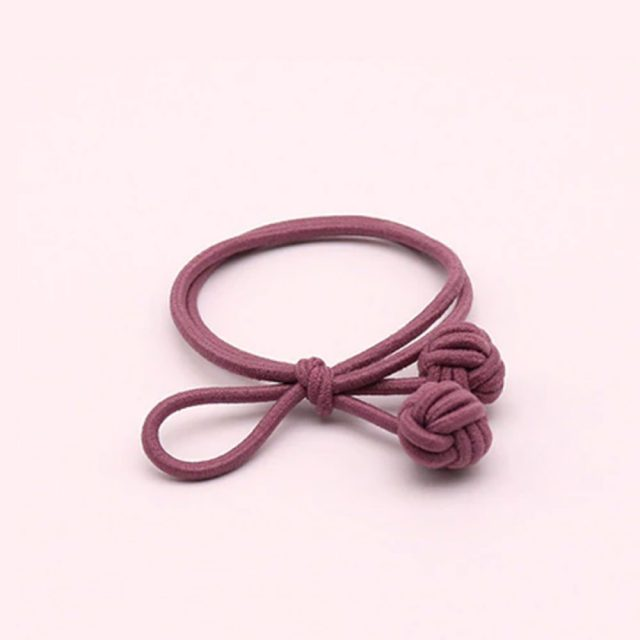 Trendy hair tie bands scrunchies dark pink blue