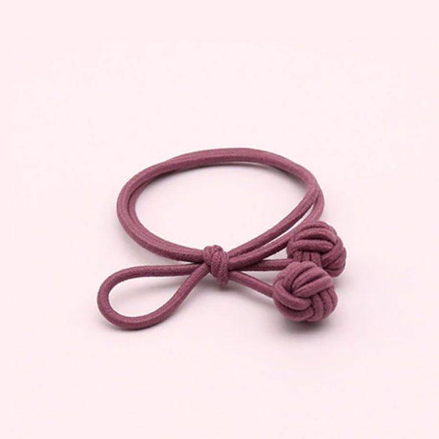 Trendy hair tie bands scrunchies dark pink blue