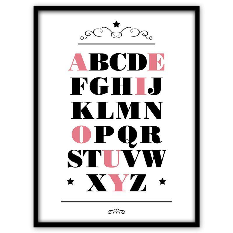 ABC med röda vokaler (engelska) - Studio Caro-lines