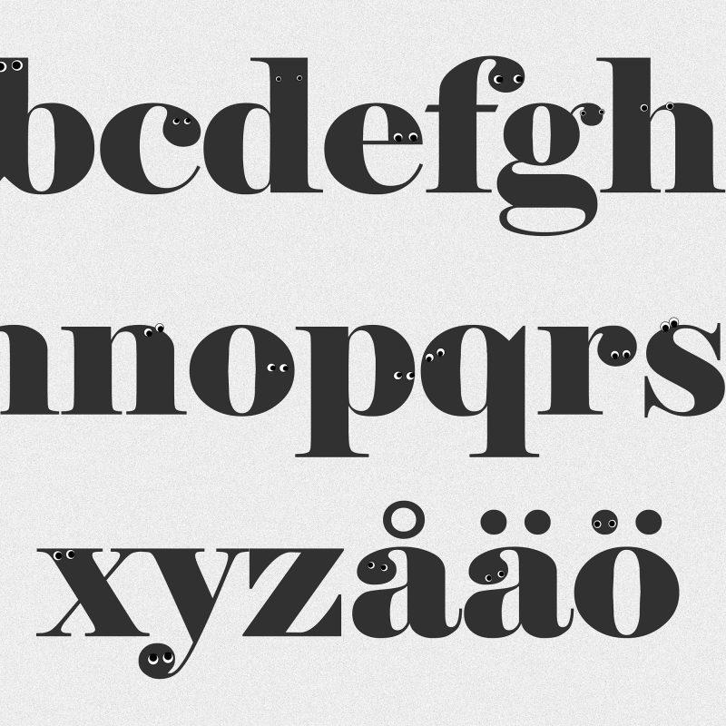 Alfabetet som ser dig - Studio Caro-lines