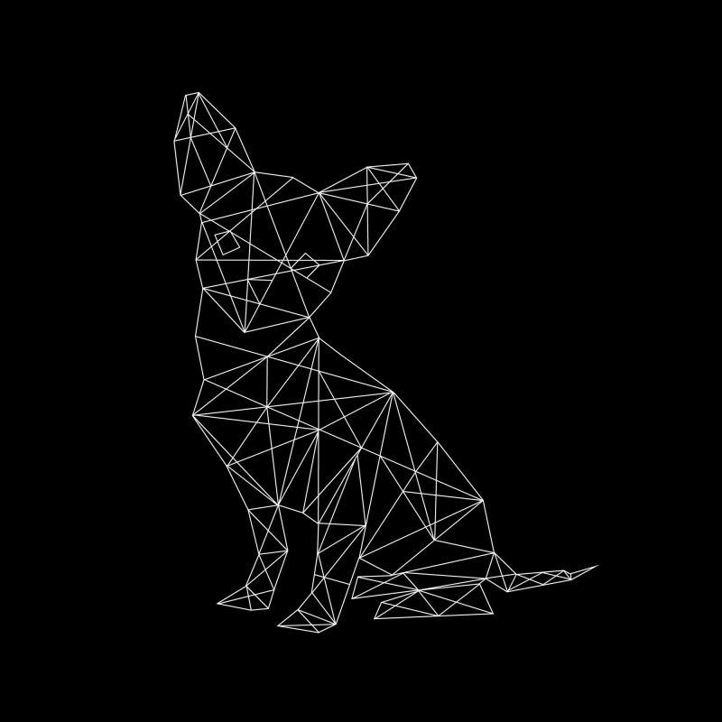 Chihuahua - svart - Studio Caro-lines