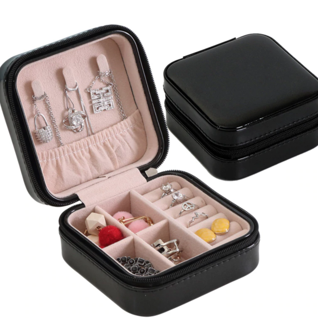 Black jewelry box case travel