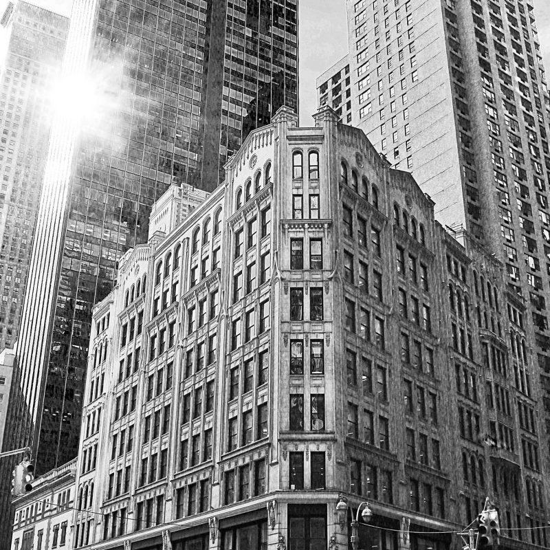 New York street (gråskala) - Studio Caro-lines