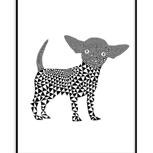 En liten chihuahua (30x40 cm) - Studio Caro-lines