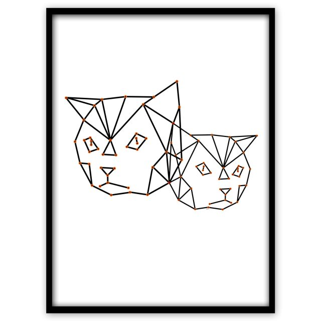 Cool cats lineart in blacka and white