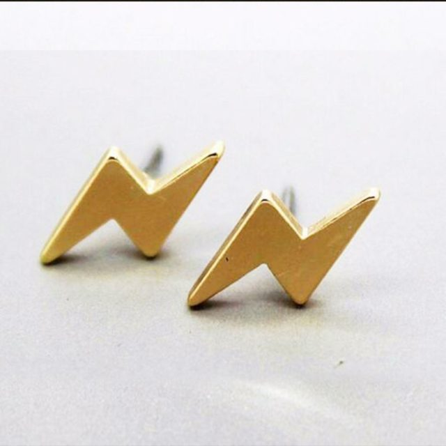 Earrings gold flash