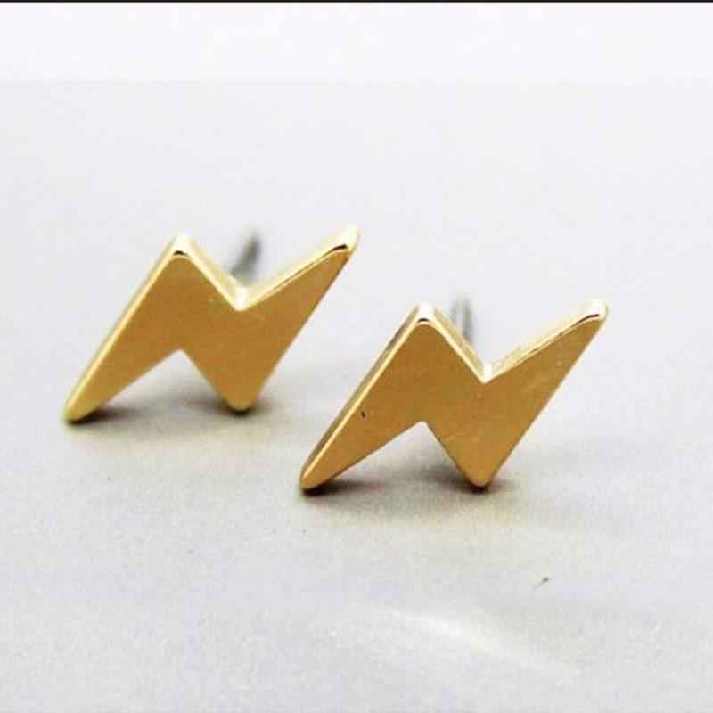 Earrings gold flash