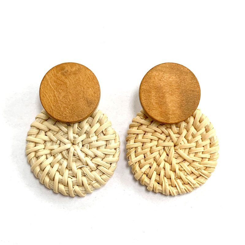 Earrings rattan summer