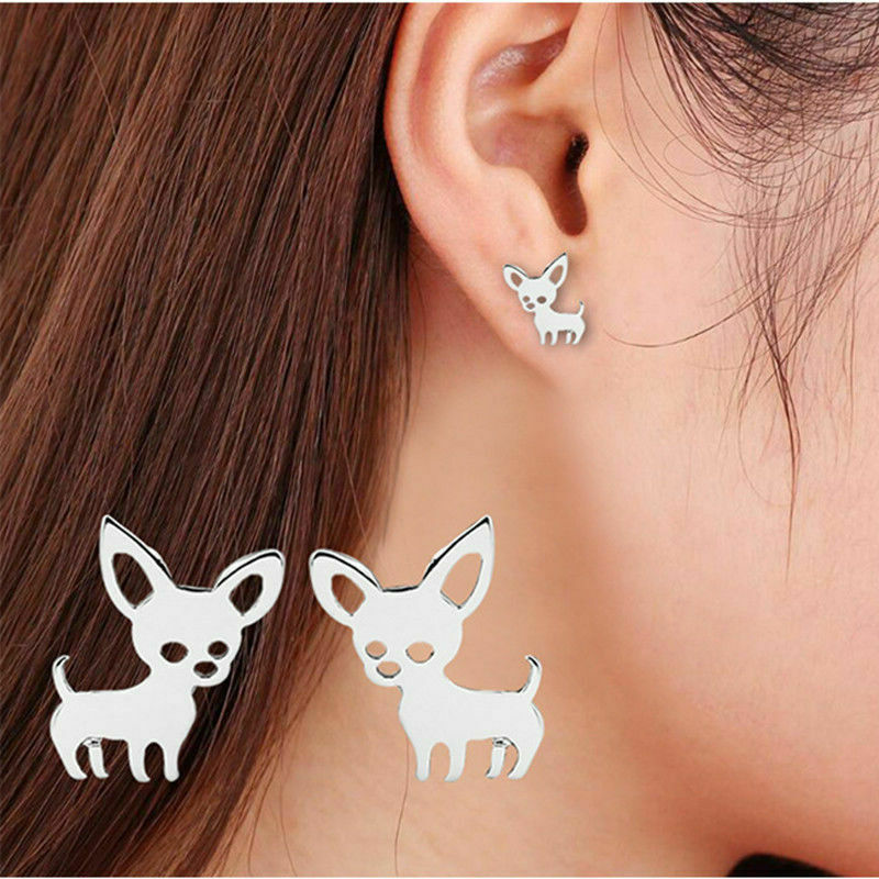 Earrings silver chihuahua