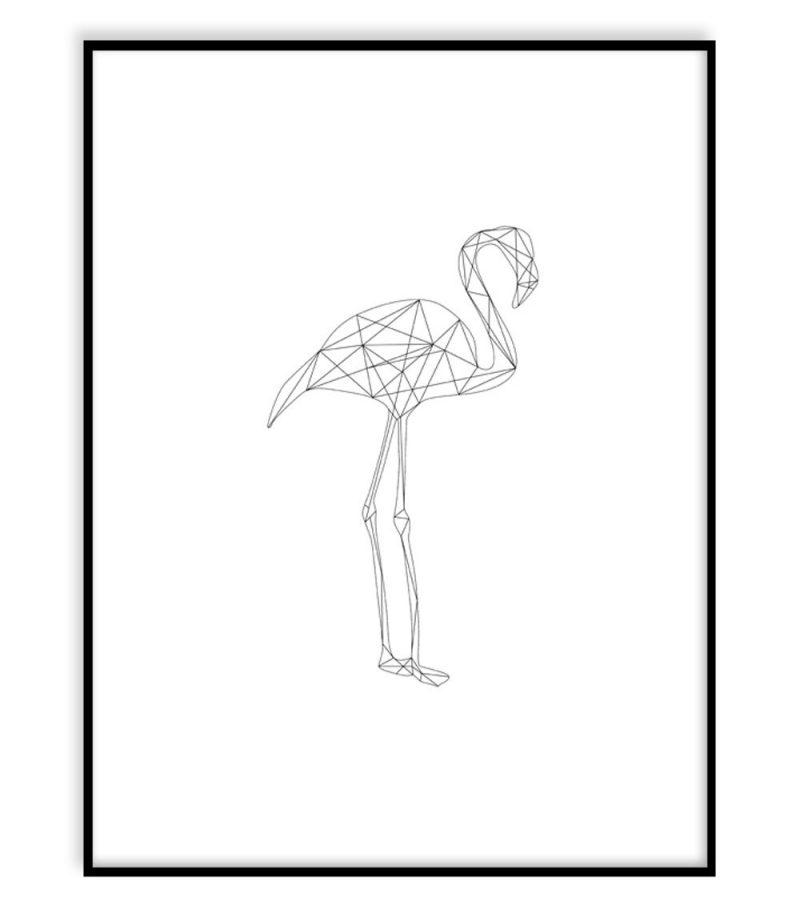 Flamingo (30x40 cm) - Studio Caro-lines