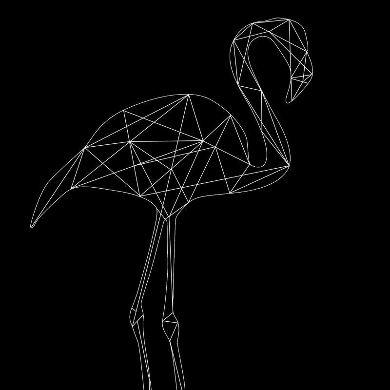Flamingo (svart) - Studio Caro-lines