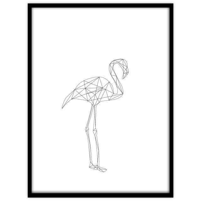 Flamingo (vit) - Studio Caro-lines