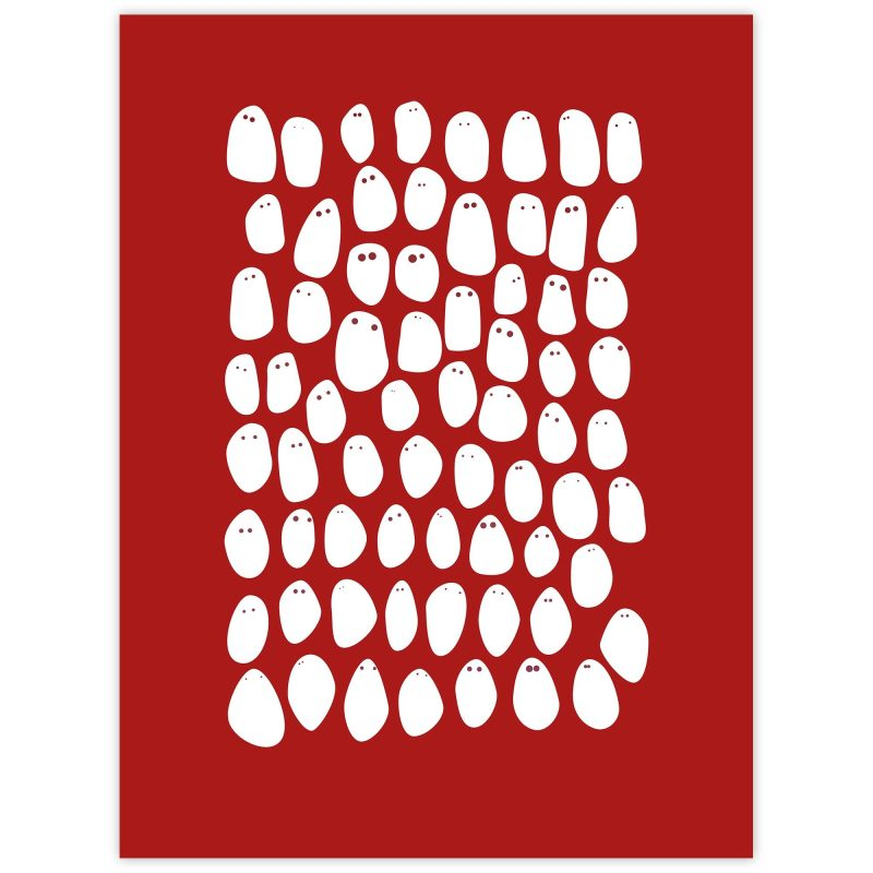 Vänner (röd) - Studio Caro-lines