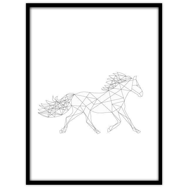 Häst (vit) - Studio Caro-lines