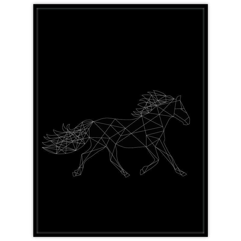 Häst (svart) - Studio Caro-lines