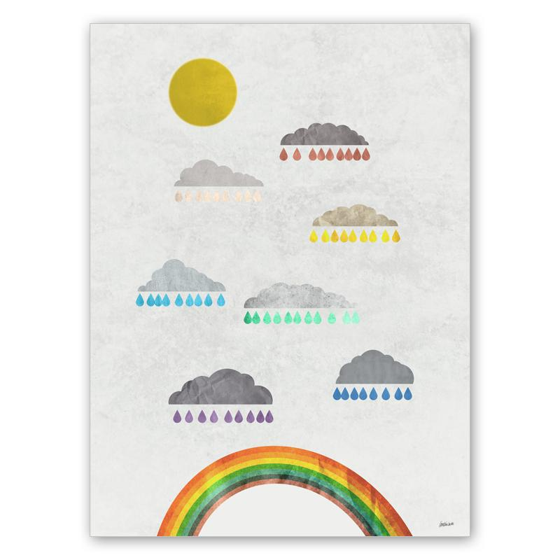 Hur regnbågar görs (30x40 cm) - Studio Caro-lines
