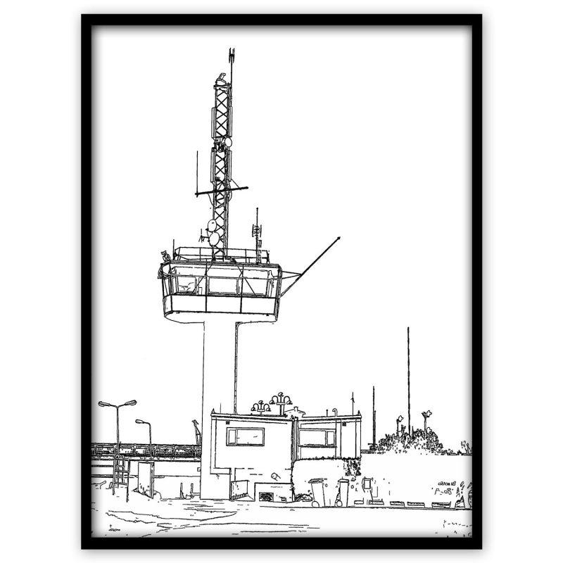 Falsterbokanalen (svart och vit) - Studio Caro-lines