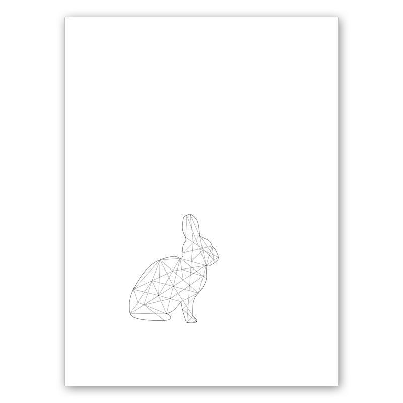 En liten kanin (30x40 cm) - Studio Caro-lines