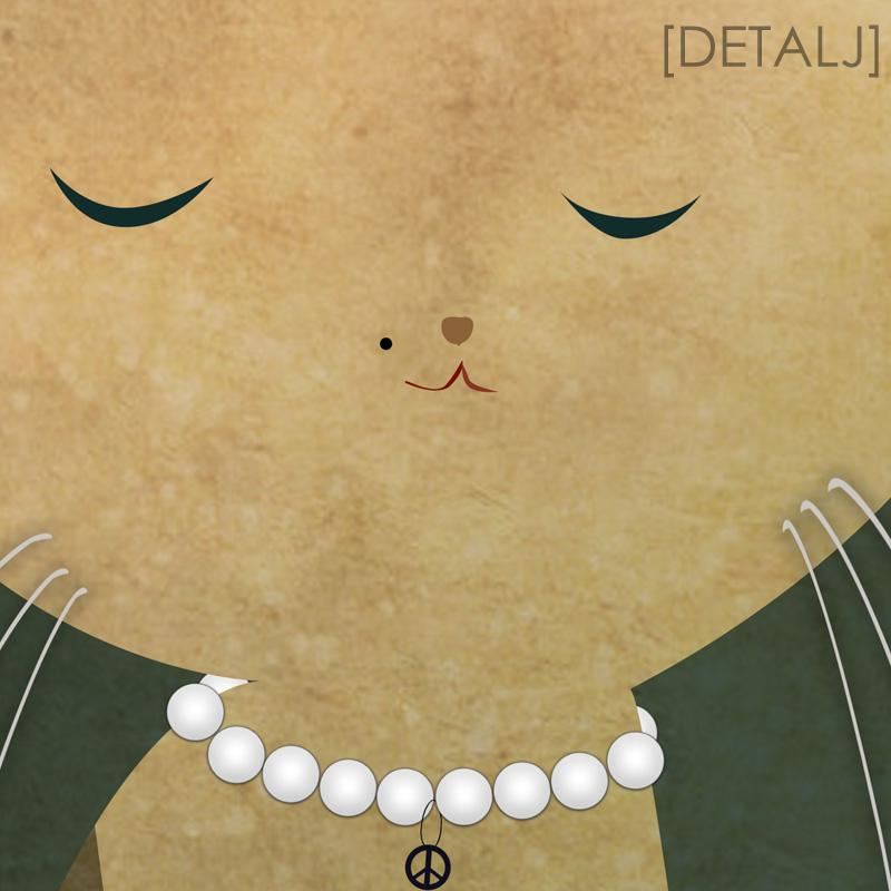 En fin liten kattunge (30x40 cm) - Studio Caro-lines