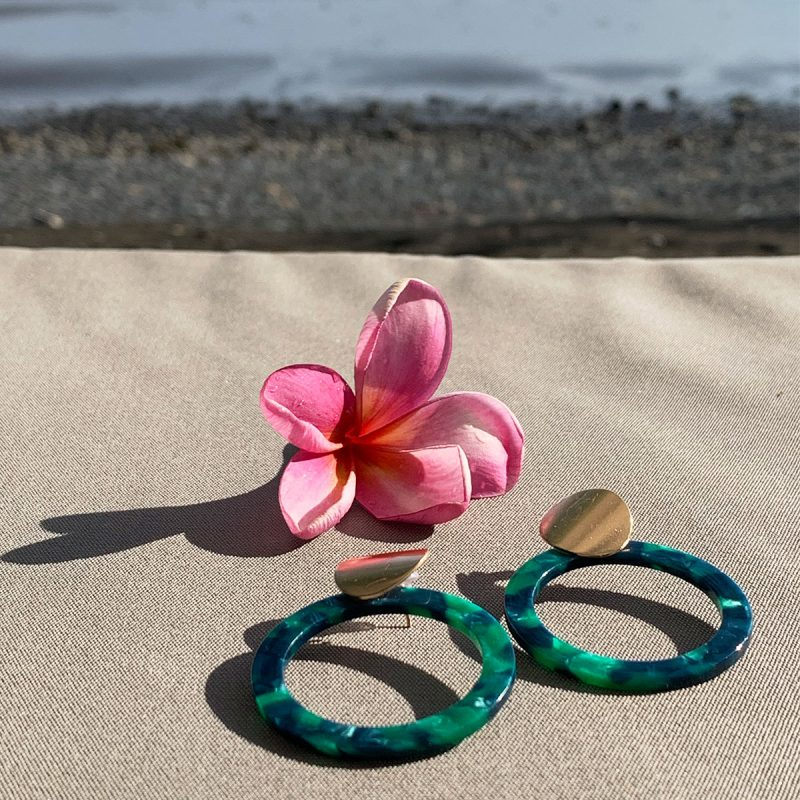 Lifestyle vacation sea earrings rings