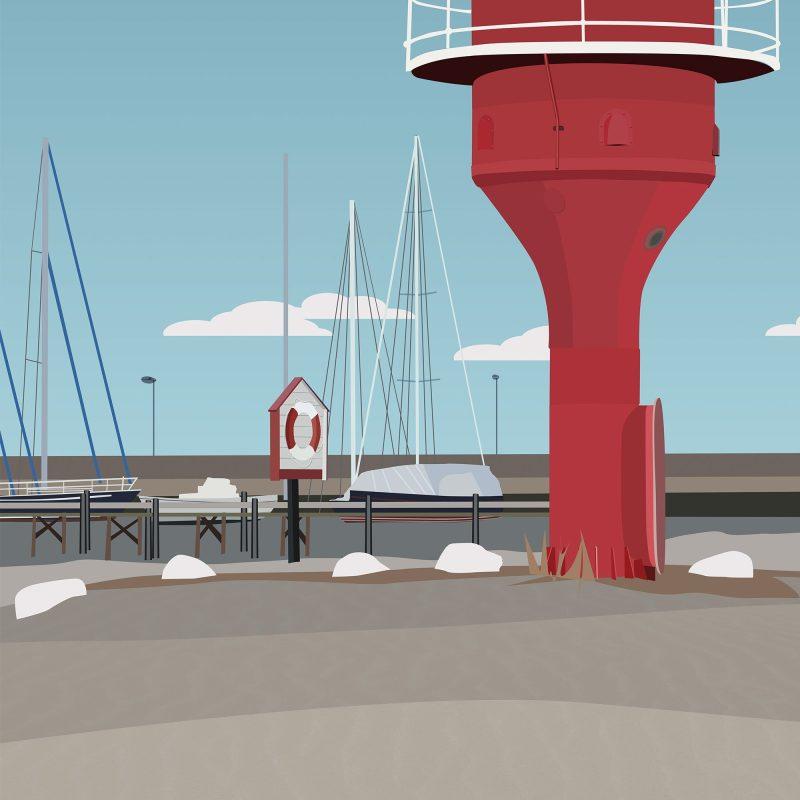 Fyren i hamnen i Skanör #2 - Studio Caro-lines