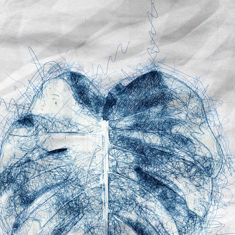 Poster med blad av den fina växten monstera