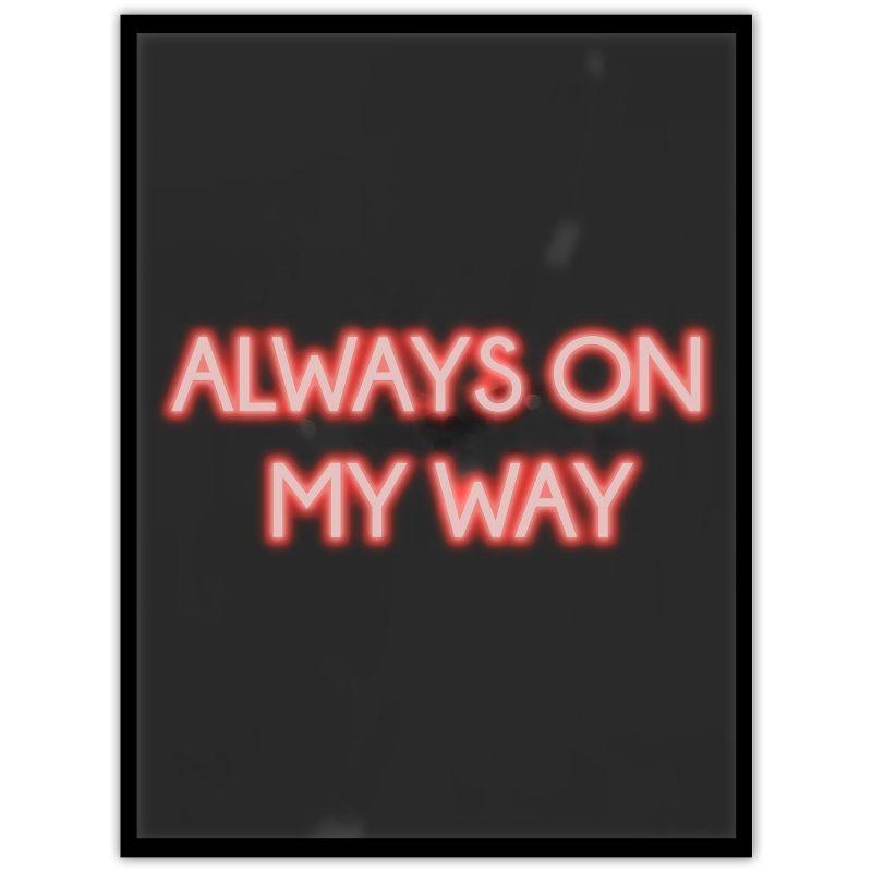 Neon: Always on my way - Studio Caro-lines