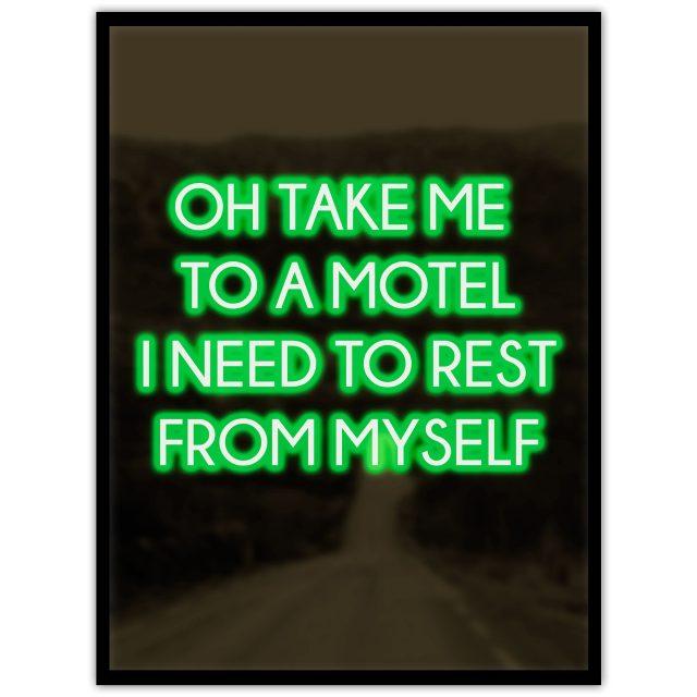 Neon: I need a motel - Studio Caro-lines