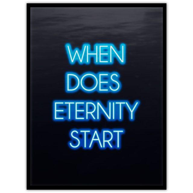 Neon: When does eternity start? - Studio Caro-lines