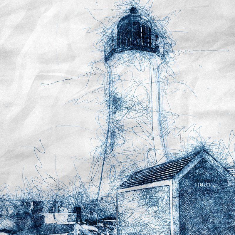 Fyr i New England - Studio Caro-lines