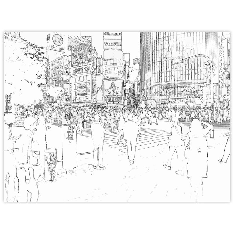 Övergångsställe i Shibuya - Studio Caro-lines