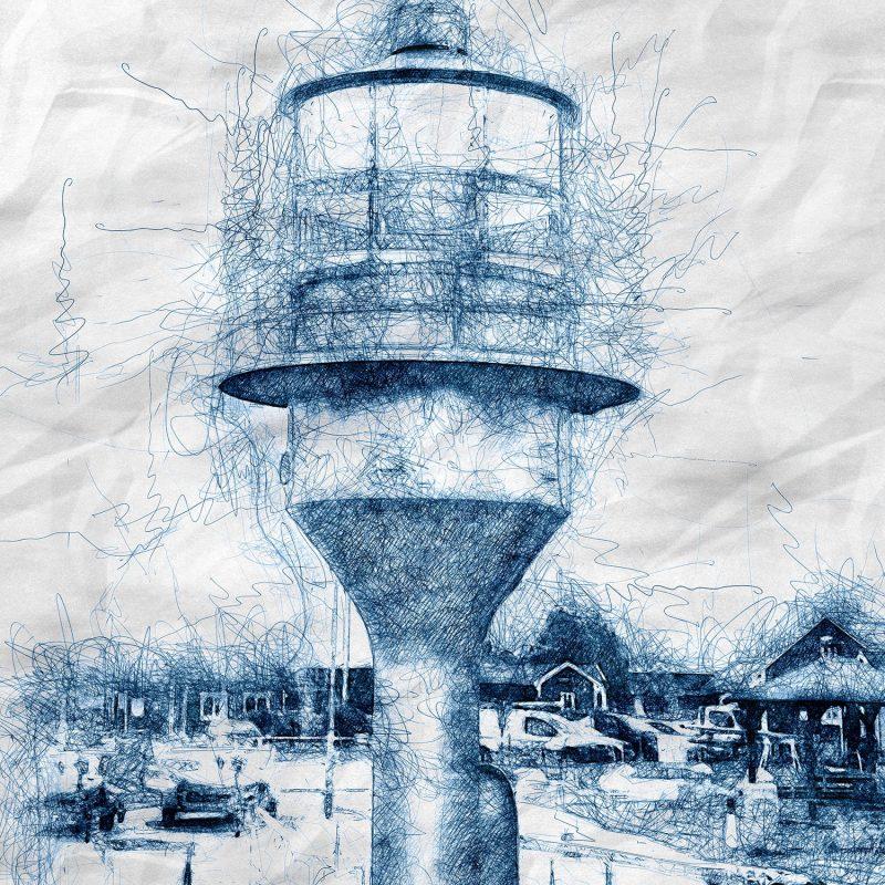 Fyren i hamnen i Skanör #1 - Studio Caro-lines