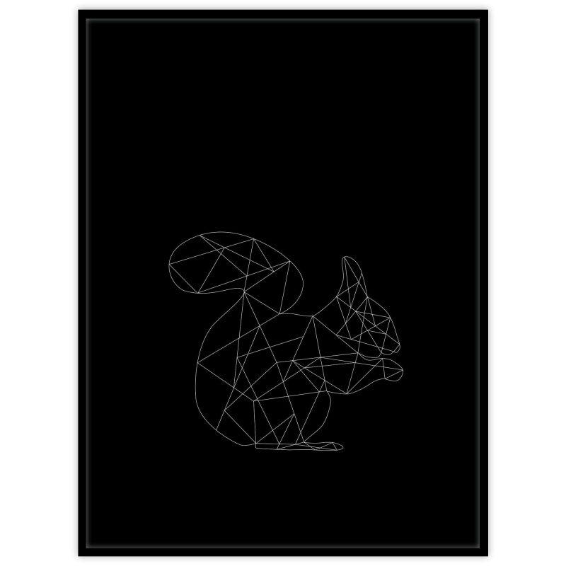 Ekorre (svart) - Studio Caro-lines
