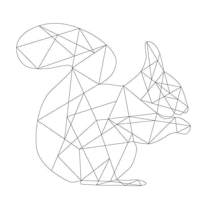 Ekorre (vit) - Studio Caro-lines