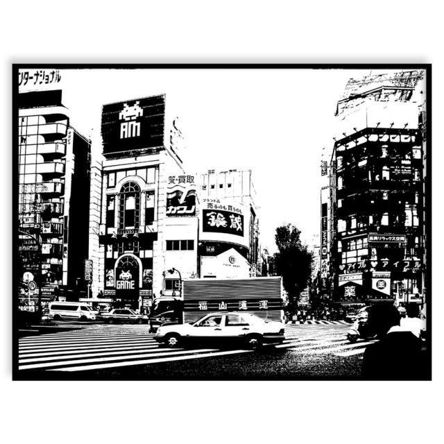 Tokyo taxi (30x40 cm) - Studio Caro-lines
