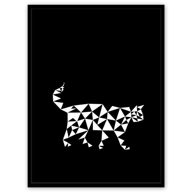 Geometric pattern: triangular cat black and white