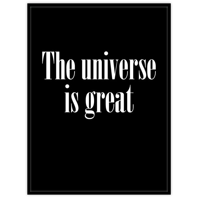 Poster: The Universe is great, big and large