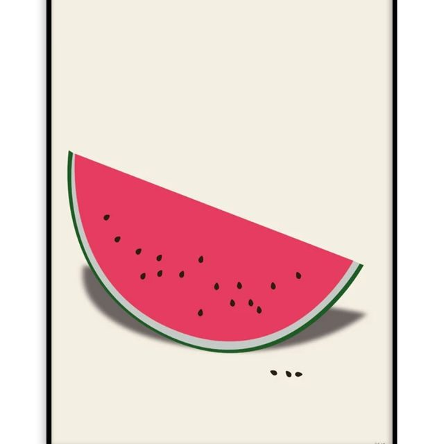 Färsk vattenmelon (30x40 cm) - Studio Caro-lines