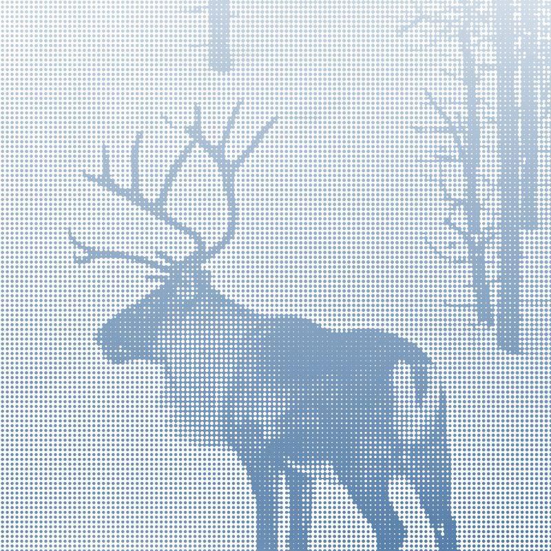 Ren vid vägen i Lappland, Norrland